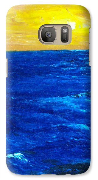 Galaxy Case featuring the painting All Alone by Conor Murphy