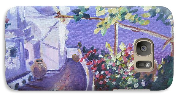 Galaxy Case featuring the painting Amalfi Evening by Julie Todd-Cundiff