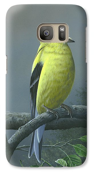 Galaxy Case featuring the painting American Goldfinch by Mike Brown