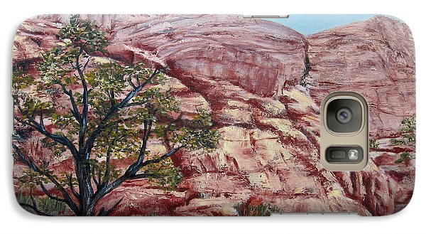 Galaxy Case featuring the painting Among The Red Rocks by Roseann Gilmore