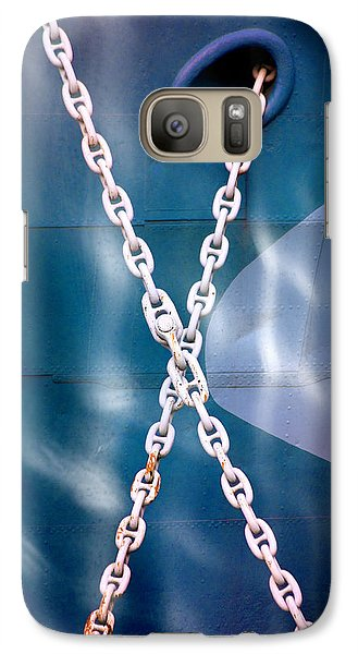 Galaxy Case featuring the photograph Anchored by Richard Piper