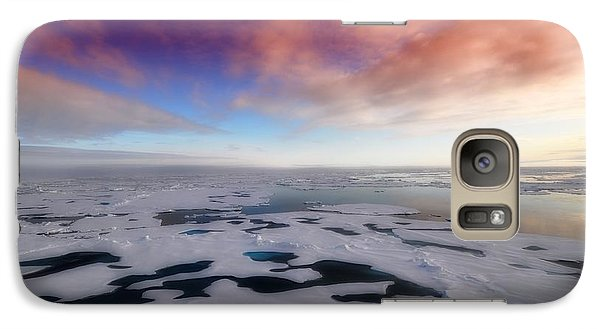 Galaxy Case featuring the photograph Arctic Sea Ocean Water Antarctica Winter Snow by Paul Fearn