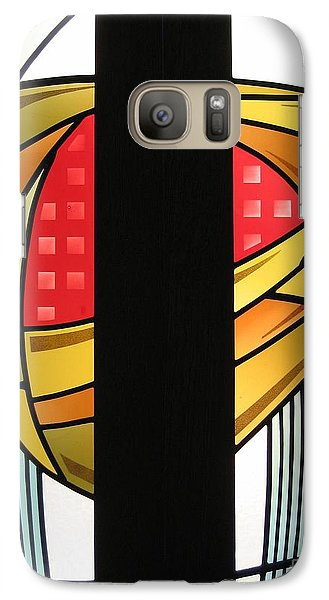 Galaxy Case featuring the glass art Arts And Crafts Abstract by Gilroy Stained Glass