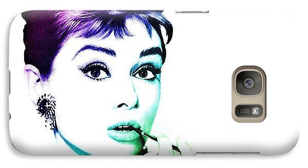 Audrey Hepburn Galaxy Case by Marianna Mills