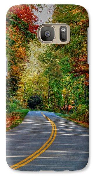 Galaxy Case featuring the digital art Autumn Drive by Kelvin Booker