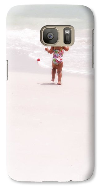 Galaxy Case featuring the digital art Baby Chases Red Ball by Valerie Reeves