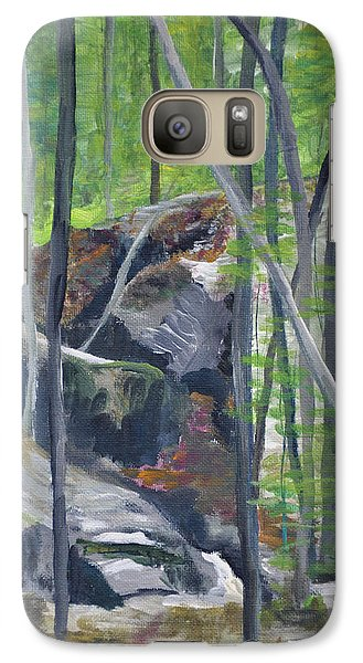 Galaxy Case featuring the painting Backyard At Sussex 2 by Dottie Branchreeves