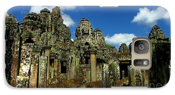 Galaxy Case featuring the photograph Bayon Temple by Joey Agbayani