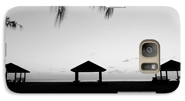 Galaxy Case featuring the photograph Beach Huts by Amar Sheow