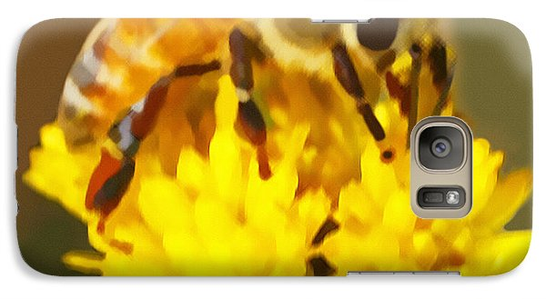 Galaxy Case featuring the painting Bee On A Yellow Flower by Marian Cates