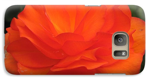 Galaxy Case featuring the photograph Begonia Named Nonstop Apricot by J McCombie
