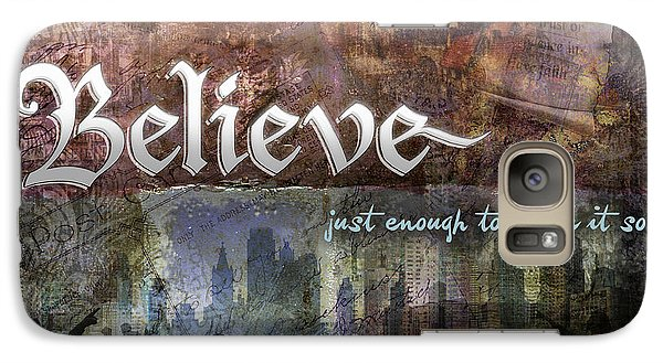 Galaxy Case featuring the digital art Believe by Evie Cook