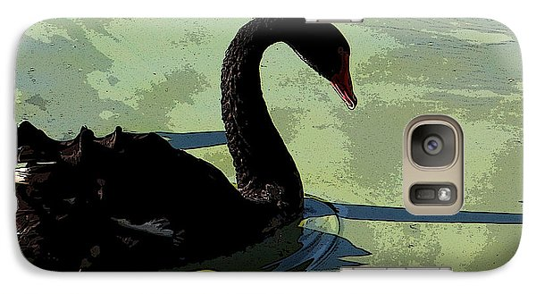 Galaxy Case featuring the photograph Black Swan by Janet Greer Sammons