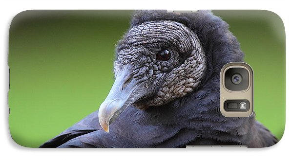 Black Vulture Portrait Galaxy S7 Case by Bruce J Robinson