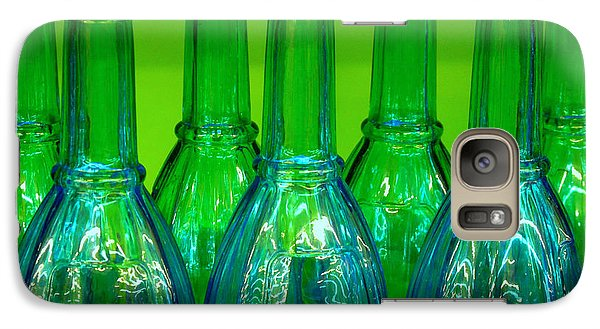 Galaxy Case featuring the photograph Blue Bottles by Ranjini Kandasamy