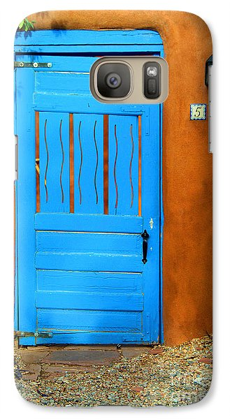Blue Door In Santa Fe Galaxy S7 Case