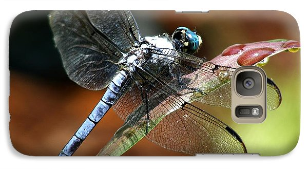 Galaxy Case featuring the photograph Blue Dragonfly by Kelly Nowak