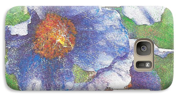 Galaxy Case featuring the painting Blue Poppies by Richard James Digance