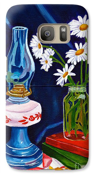 Galaxy Case featuring the painting 2 Books And A Lamp by Laura Forde