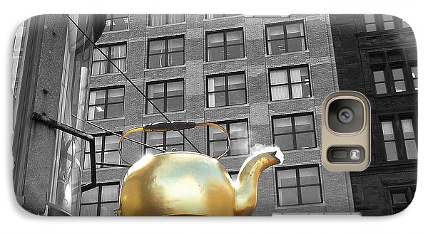 Galaxy Case featuring the photograph Boston Golden Teapot by Cheryl Del Toro