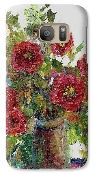 Galaxy Case featuring the painting Bouquet Of Poppies by Mary Wolf