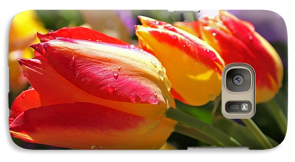 Bowing Tulips Galaxy S7 Case by Rona Black
