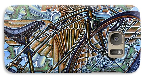 Galaxy Case featuring the painting Bsa Parabike by Mark Howard Jones