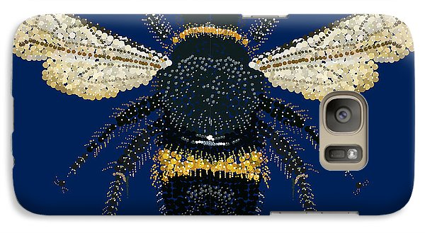 Galaxy Case featuring the digital art Bumblebee Bedazzled by R  Allen Swezey