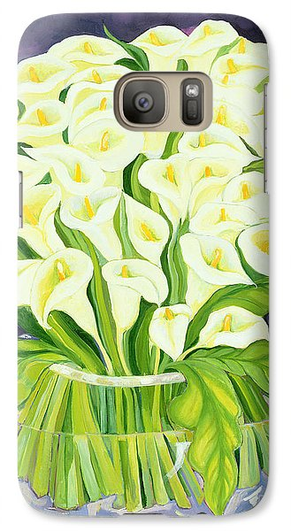 Lily Galaxy S7 Case - Calla Lilies by Laila Shawa
