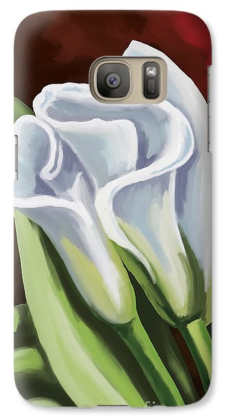 Galaxy Case featuring the painting Calla Lilies by Tim Gilliland