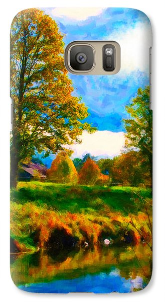 Galaxy Case featuring the digital art Canal 2 by Chuck Mountain