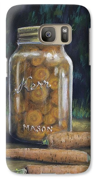 Galaxy Case featuring the painting Canned Carrots by Claude Schneider