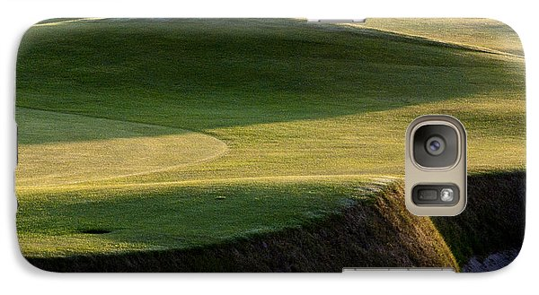 Galaxy Case featuring the photograph Carnoustie Shadows Scotland by Sally Ross