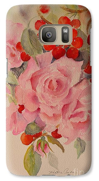 Galaxy Case featuring the painting Cascade by Beatrice Cloake