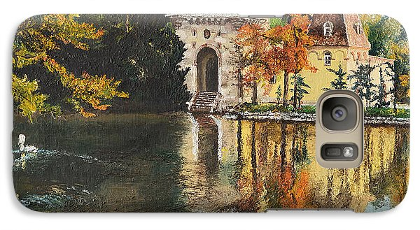 Galaxy Case featuring the painting Castle On The Water by Mary Ellen Anderson