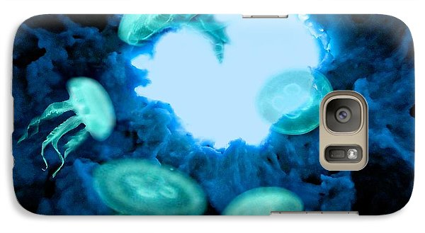 Galaxy Case featuring the mixed media Cave Jellies by Steed Edwards
