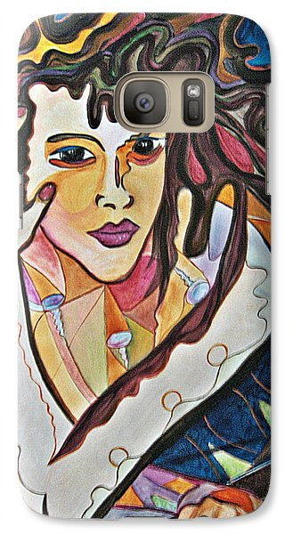 Galaxy Case featuring the painting Changes by Diana Bursztein