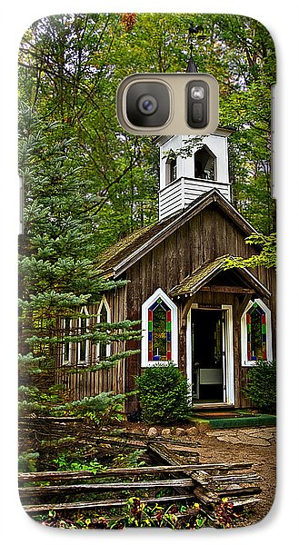 Galaxy Case featuring the photograph Chapel In The Woods by Judy  Johnson