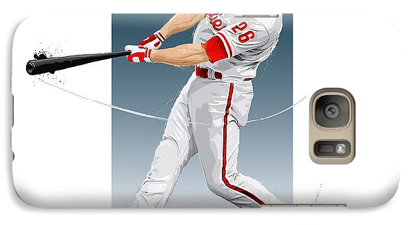 Chase Utley Galaxy S7 Case by Scott Weigner