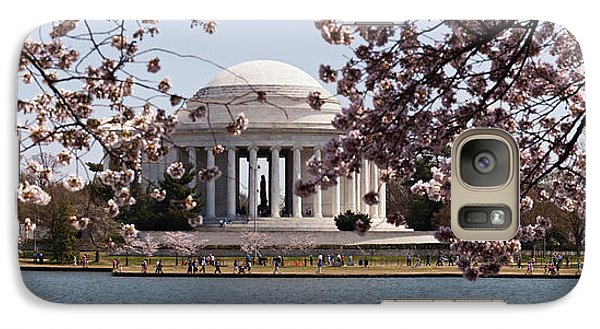 Cherry Blossom Trees In The Tidal Basin Galaxy S7 Case by Panoramic Images