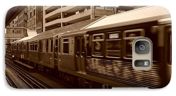 Galaxy Case featuring the photograph Chicago Cta by Miguel Winterpacht