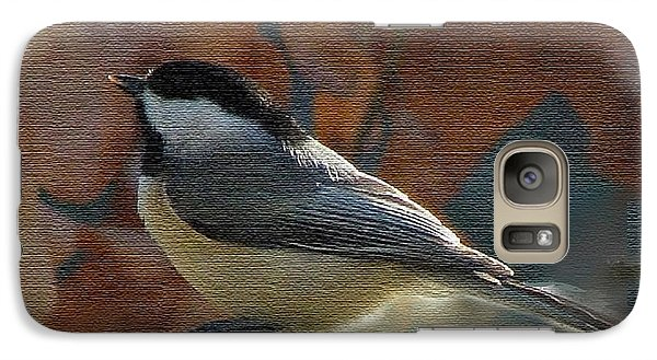 Galaxy Case featuring the photograph Chickadee In Autumn by Janette Boyd