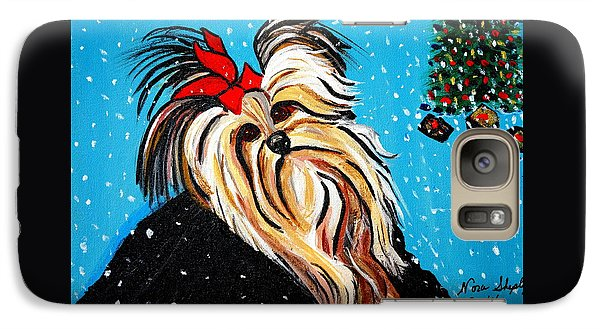 Galaxy Case featuring the painting Christmas Card by Nora Shepley