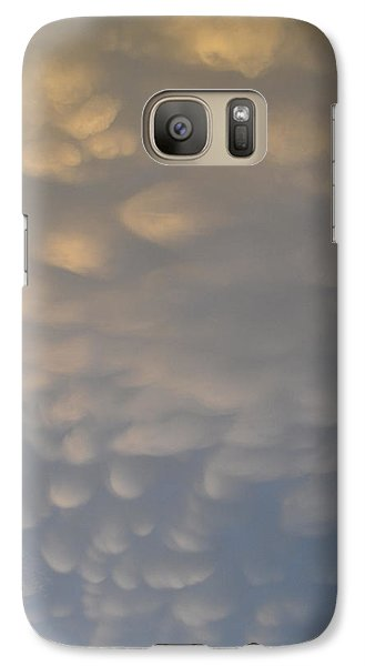 Galaxy Case featuring the photograph Clouds Above  by Lyle Crump