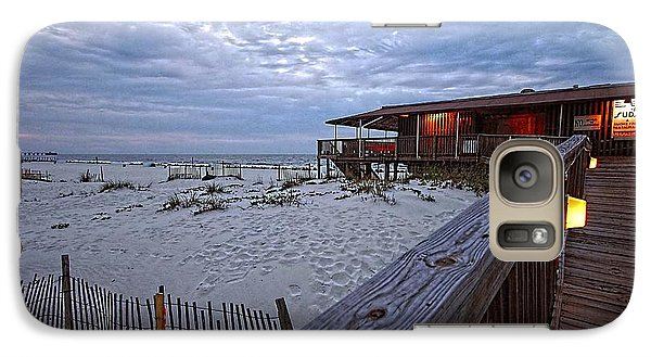 Galaxy Case featuring the painting Cloudy Morning At The Sea N Suds by Michael Thomas