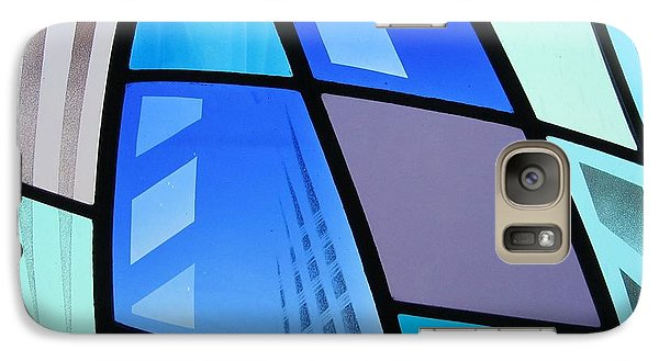 Galaxy Case featuring the glass art Coal Harbour Triptych Part 3 by Gilroy Stained Glass