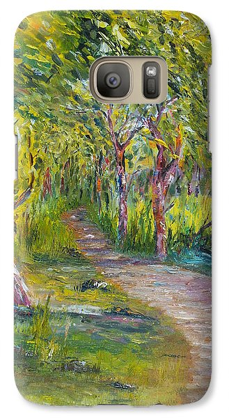 Galaxy Case featuring the painting Coastal Path by Conor Murphy