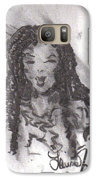 Galaxy Case featuring the drawing Colorful Beauty by Laurie L