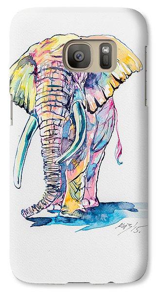 Elephant Galaxy S7 Case - Colorful Elephant by Kovacs Anna Brigitta