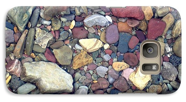 Galaxy Case featuring the photograph Colorful Lake Rocks by Kerri Mortenson